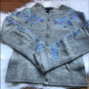 The Limited embroidered cardigan